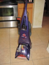 Trying it now: Bissell Proheat Carpet Cleaner